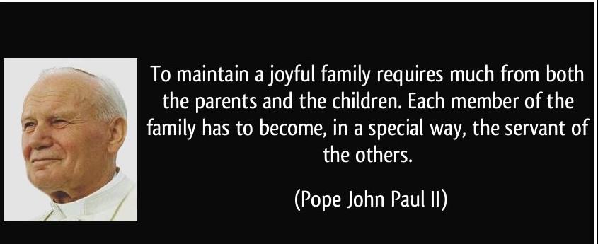 john paul ii family